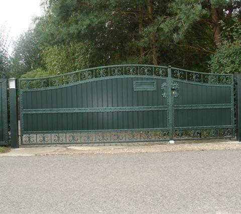 zielona brama skrzydłowa