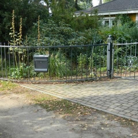 metalowe proste ogrodzenie krosno
