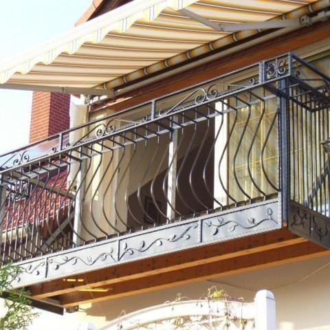 balustrada zewnętrzna metalowa